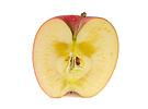 半分に切ったリンゴの断面